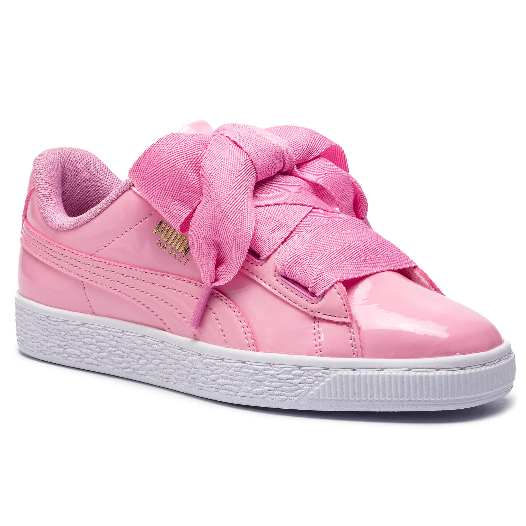 Sneakersy PUMA – Basket Heart Patent Jr 364817 03 Prism Pink/Pcoat/Gold/White