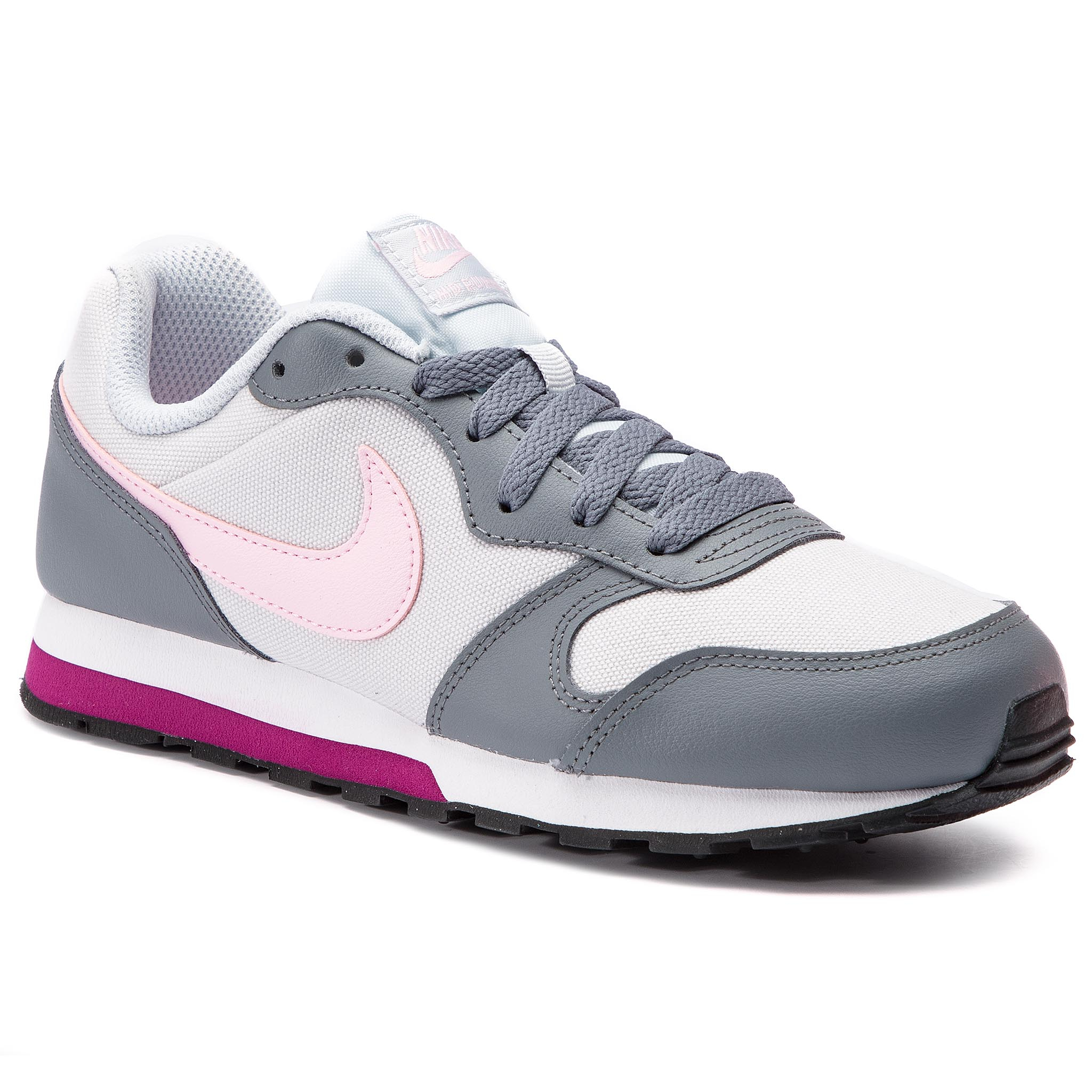 Buty NIKE – Md Runner 2 (GS) 807319 017 Pure Platinum/Różowe Foam