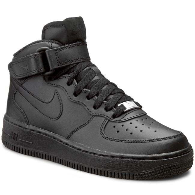 Buty NIKE – Air Force 1 Mid (GS) 314195 004 Czarne/Czarne