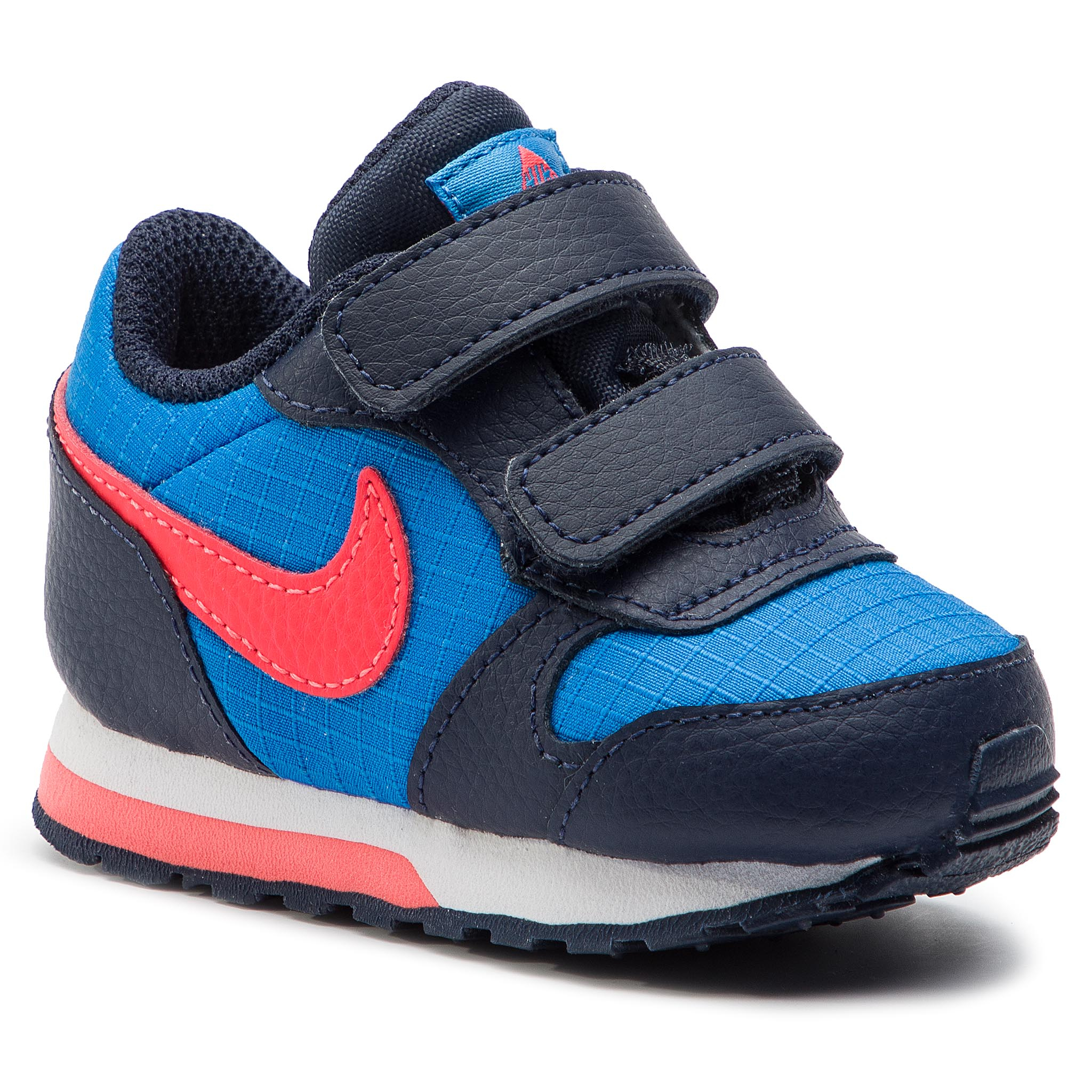 Buty NIKE – Md Runner 2 (TDV) 806255 412 Photo Niebieskie/Bright Crimson