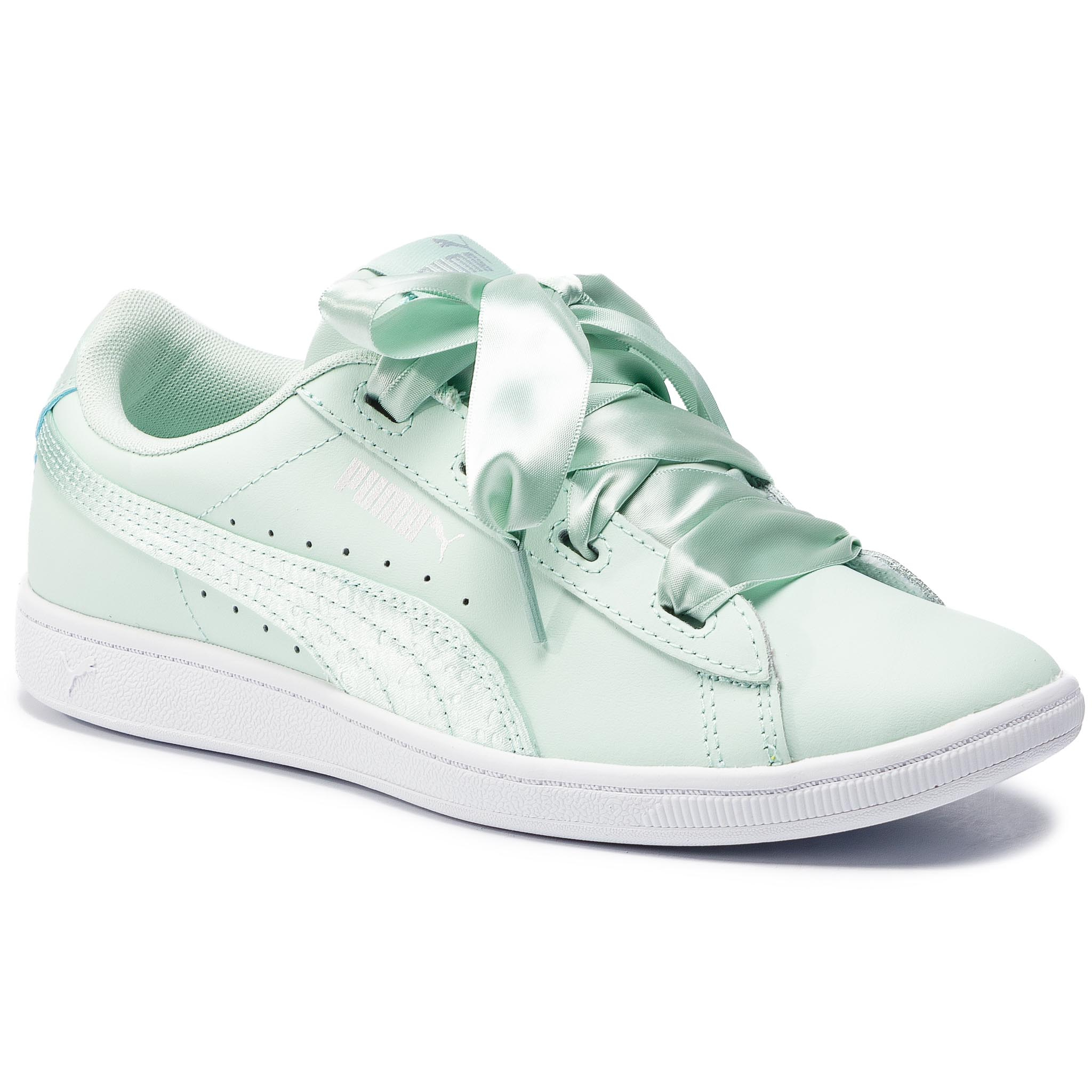 Sneakersy PUMA – Vikky Ribbon L Satin Jr 369542 01 Fair Aqua/Fair Aqua
